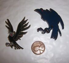 2  RAVEN PINS - FOR HOLLOWEEN OR IN BETWEEN