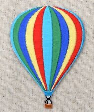 Colorful Striped - Hot Air Balloon - Iron on Applique/Embroidered Patch