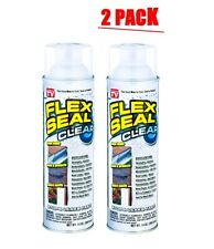 Flex Seal Clear 2 Pack Cans Set 14 Spray Liquid Rubber Easy Coat Protect Seen TV