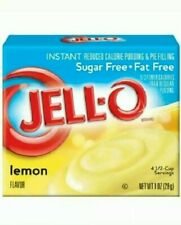 Lot of 2 - Jell-O Sugar Free Lemon Instant Pudding, 1 oz each box