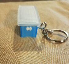 New~Tupperware Aqua Blue Fridge Smart Keychain Key Ring w/ White Lid * Rare