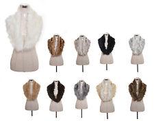Women Ladies Fashion Faux Fur Winter Fluffy Collar Scarf Shawl Wrap Stole Scarfs