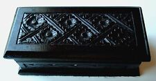 Wood Wooden Trinket Box Hand Carved Handmade Bali Indonesia #BT1711