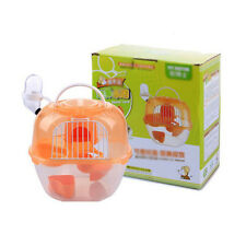 Pet Hamster Cage Protable Double Layered Kettle Water Bottel Food Plate Cage New
