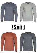 Herren-T-Shirts mit Y-Ausschnitt Knopfleiste