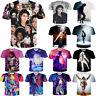 Popular Women Men Michael Jackson Casual 3D T-Shirt  Print Short Sleeve Tops Tee