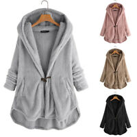 Mode Femme Hiver Manteau à capuche Asymétrique Manche Longue Chaud Simple Plus