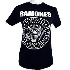 THE RAMONES Black Logo T-shirt S Small