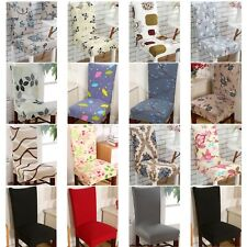2/4/6X Removable Stretch Chair Covers Slipcovers Dining Room Stool Seat UK STOCK