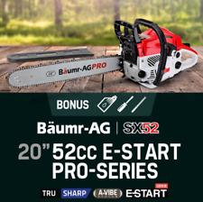 "52cc Petrol Chainsaw Professional 20"" Easy Start Chain Saw Petrol 2 Stroke 4.0HP"