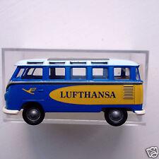 Brekina 3183 1:87 HO scale 1960's Volkswagen Samba Minibus Van- Lufthansa