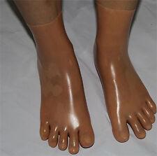 Latex Skin Toe Socks Gummi 0.4mm Unisex Socks Unique New Skin Toe SIZE M