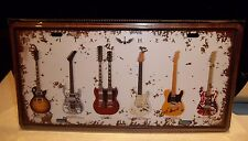 GUITAR HEAVEN  NUMBER PLATE/  SIGN, TELECASTER.LES PAUL etc 12X6 INCHES 30X15cm
