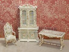 "Bespaq 1:24 ""Dauphine"" 3-piece Library Set - Dollhouse Miniature (BQ-H300)"