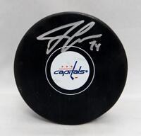 John Carlson Autographed Washington Capitals Hockey Puck- JSA Witnessed Auth