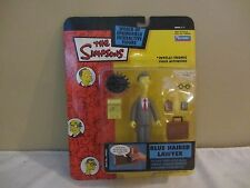 Playmates Toys The Simpsons Blue Haired Lawyer Voice Activation #11  NOC  (217D)