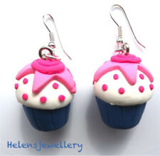 earrings with gift bag Gorgeous handmade Pink Cupcake