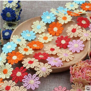 1-5 Yards Beautiful Daisy Flower Lace And Ribbon Trim Colours for Sewing