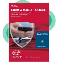 McAfee 2020 Android Tablet & Mobile Internet Security Antivirus 1 Year (E-Mail)