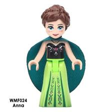 Custom Minifigure Disney Frozen Princess Anna Green Cape Light Green Dress
