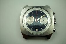 WITTNAUER 8031 VINTAGE PROFESSIONAL CHRONOGRAPH STAINLESS STEEL C.1970'S MINT!!
