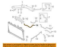 SUBARU OEM 06-16 Forester 2.5L-H4 Radiator-Lower Hose Clamp 909170064
