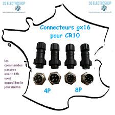 Lot de 4 connecteurs GX16 pour imprimante 3d creality cr10/cr10S