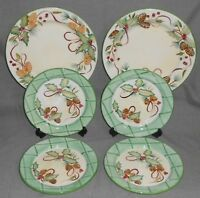 6 pc Set Zrike CHRISTMAS/HOLIDAY PATTERN Dinner and Salad Plates