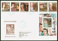 Mayfairstamps Guinea 1984 Celebrities Imperf & Souvenir sheet combo First Day Co
