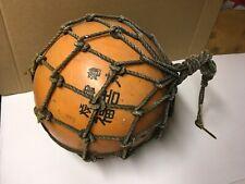 Vintage Large Authentic Japanese Roped Net Fishing Float Bouy Ball Marked