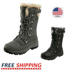 Women's Winter Snow Boots Warm Faux Fur Lined Insulted Waterproof Mid Calf Boots