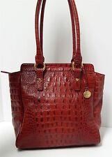 Brahmin Duxbury Red Croc Alligator Leather Satchel Bag