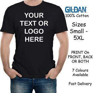 Personalised Men's Custom Printed T-Shirt Men Stag Customised Tee Gildan Fast