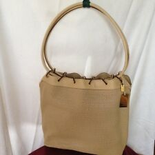 NEW Gucci Laser Cut  Beige Leather Tote