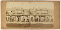 Parigi Palais Royal Foto Stereo PL55L4n Vintage Albumina c1865