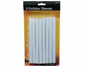 New 8 x 15mm White Radiator Pipe Covers Sleeves Shrouds snap Around your pipes