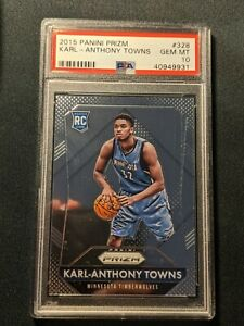 *** 2015 Prizm #328 KARL ANTHONY TOWNS PSA 10 GEM MINT  RC Rookie ***