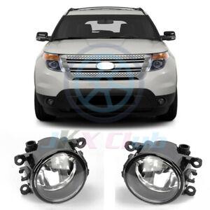LH + RH Bumper Lamps Fog Lights u For Ford Explorer 2011-2015 / C-MAX TAURUS