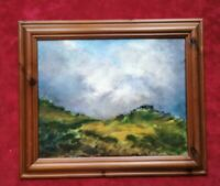 Original Signed Oil Painting,  Framed, Over The Hill to St Just & Land's End .