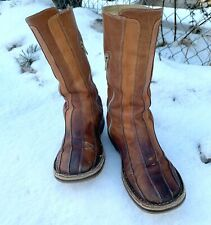 Women's girls shoes Bubetti Italian design beige real leather boots size EU 36