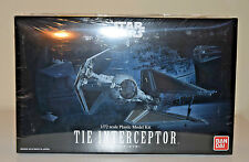 Star Wars TIE Interceptor Return of the Jedi 1/72 Scale Bandai Model Kit EP6 NEW