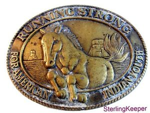 Billy Mills Running Strong American Indian Youth Belt Buckle