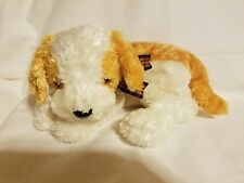 "2002 TY Beanie Buddy 'Darling' Ty Silk Gold and White Puppy Dog 12-14"" Inches"