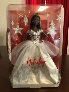 Holiday Barbie 2021 Signature African American Silver Gown - FAST FREE SHIPPING!