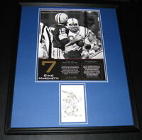 Gino Marchetti Colts Signed Framed 16x20 Photo Poster Display