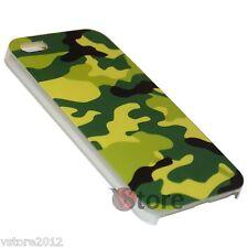 Cover Custodia Rigida Per iPhone 5S 5 5G Militare Mimetica Verde + Pellicola