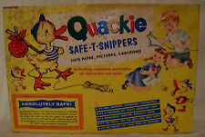RARE Michael Products Co vtg Quackie Safe T Snippers set w/Box WORKS from 1954