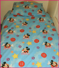MICKEY MOUSE Clubhouse SINGLE BED QUILT COVER  Doona Duvet Set w/ P-Case - NEW