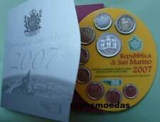 San Marino Off. Kursmünzensatz 2007 KMS 1 Cent bis 2 Euro+ 5 € Chancengleichheit