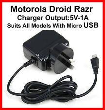 Motorola Droid Razr AC Charger XT905  XT907 XT910 XT912 XT890 XT925 XT926